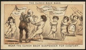 The Clinch back band. Wear the Clinch back suspender for comfort. Clinch back or bust. Clinch back best made. Clinch back forever> Clinch back band. Wear the Clinch back suspender for comfort.