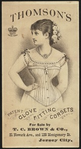Thomson's patent glove fitting corsets.