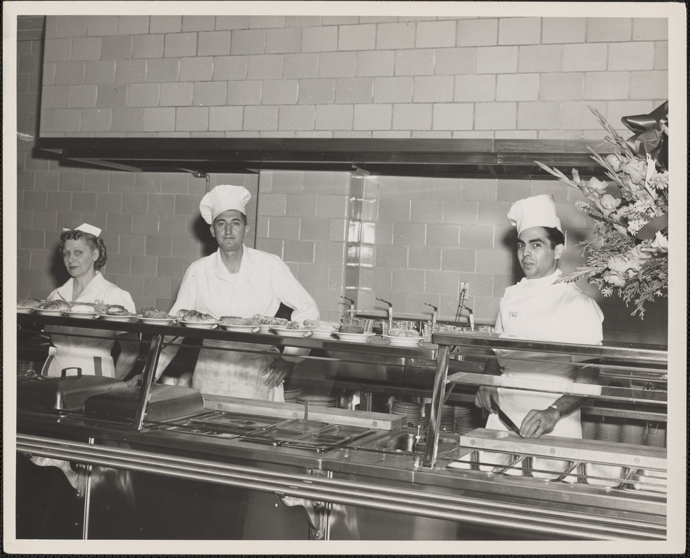 Cafeteria workers at Veterans Administration Hospital
