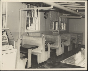 Booths in cafeteria at Veterans Administration Hospital