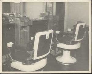 Barber chairs at Veterans Administration Hospital