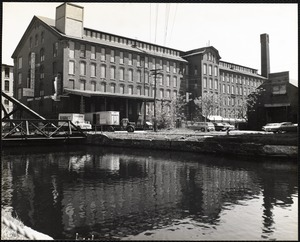 Pemberton Mill, with North Canal in foreground (mill built 1861, canal completed 1848)