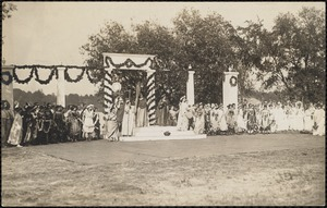 Arlington pageant to commemorate the dedication of the new town hall
