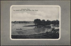 Arlington, Mass. The island from Villa Thüringen, Spy Pond