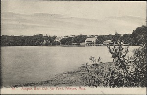 Arlington Boat Club, Spy Pond, Arlington, Mass.