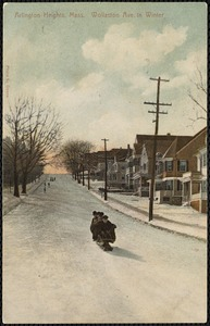 Arlington Heights, Mass. Wollaston Ave. in winter
