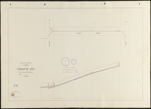 Plan and profile of sewer in Grove St.