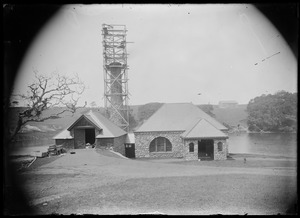 Pumping station. Probably Oak Bluffs at head of the pond