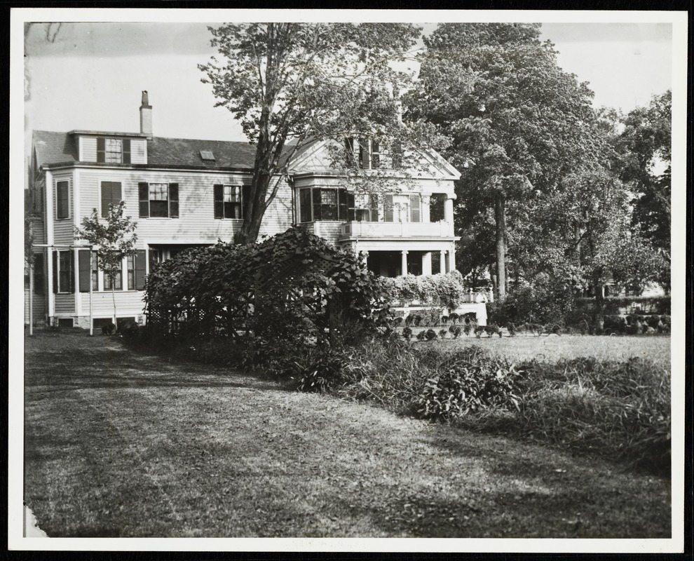 Newton photographs oversize : Allen House : 35 Webster Street / [compiled by the staff of the Newton Free Library]. - Allen House : 35 Webster Street - Exterior and Grounds of Allen House -