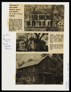 Newton photographs oversize : Allen House : 35 Webster Street / [compiled by the staff of the Newton Free Library]. - Allen House : 35 Webster Street - The Test of Time Adds Beauty, Grace and Dignity to Area Older Homes -