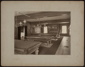 Hunnewell Club photographs - Pool Room -