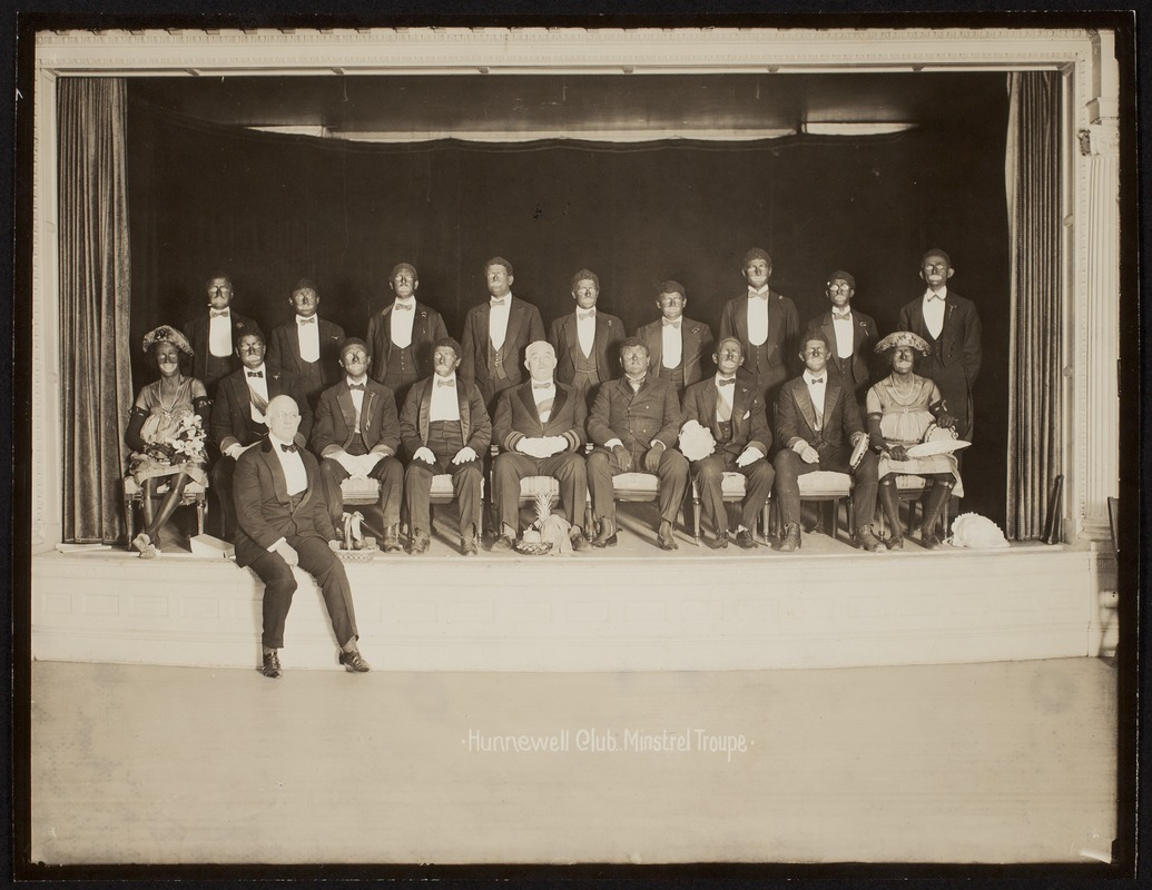 Hunnewell Club photographs - Hunnewell Club Minstrel Troupe -