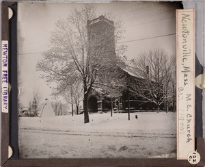 Newton photographs collection, lantern slides - M. E. Church, Newtonville, Mass. -