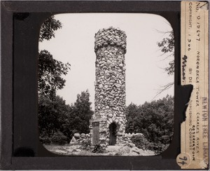 Newton photographs collection, lantern slides - Norombega Tower, Charles River Reservation -