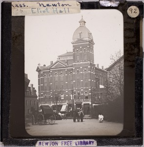 Newton photographs collection, lantern slides - Eliot Hall -