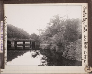 Newton photographs collection, lantern slides - Newton Upper Falls. Low Water in Gorge -