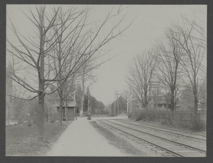 Newton Engineering Department Photos - Langley Road Railroad Crossing Before Separation of Grades -