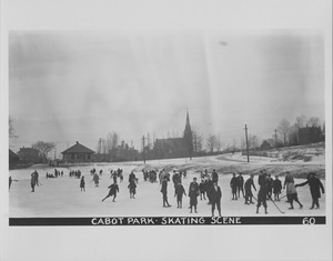 Newton Forestry Department Photographs, 1908-1918 - Cabot Park - Skating Scene -