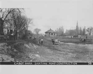 Newton Forestry Department Photographs, 1908-1918 - Cabot Park - Skating Pond Construction -