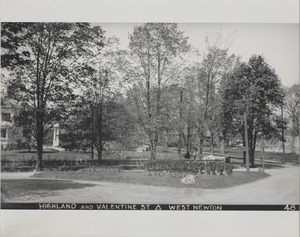 Newton Forestry Department Photographs, 1908-1918 - Highland and Valentine Street - West Newton -