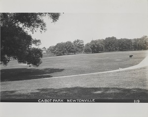 Newton Forestry Department Photographs, 1908-1918 - Cabot Park - Newtonville -