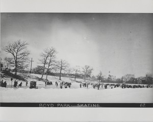 Newton Forestry Department Photographs, 1908-1918 - Boyd Park - Skating -