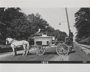 Newton Forestry Department Photographs, 1908-1918 - Forestry Department Vehicle, 1909 -