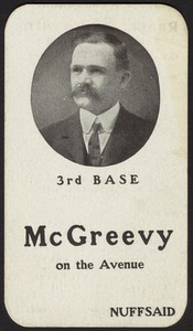 Rooters souvenir card, 1903 World Series