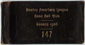 Boston Americans season pass, 1906