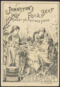 Johnston's Fluid Beef, most nutricious food for children