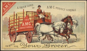 The AMC Perfect Cereals - a truckload of AMC Perfect Cereals en route for your grocers