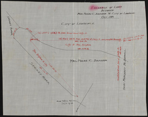 Exchange of land between Mrs. Phebe C. Brigham & City of Lawrence