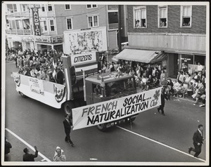 French social naturalization club parade float