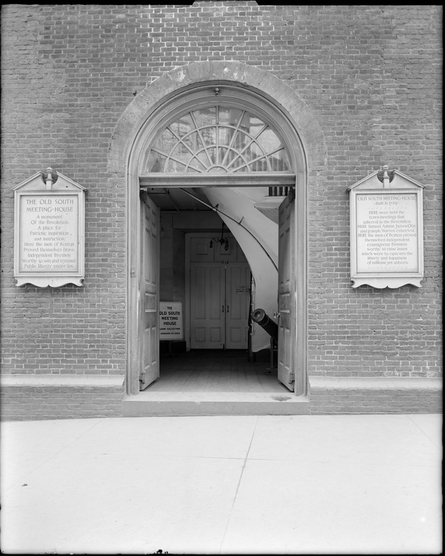 Doorway Of Old South Meeting House At Washington Street And
