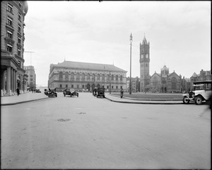 Copley Square Library, New Old South Church and Copley Plaza