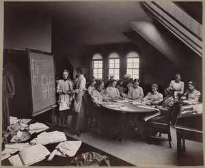 The class in dress-making.