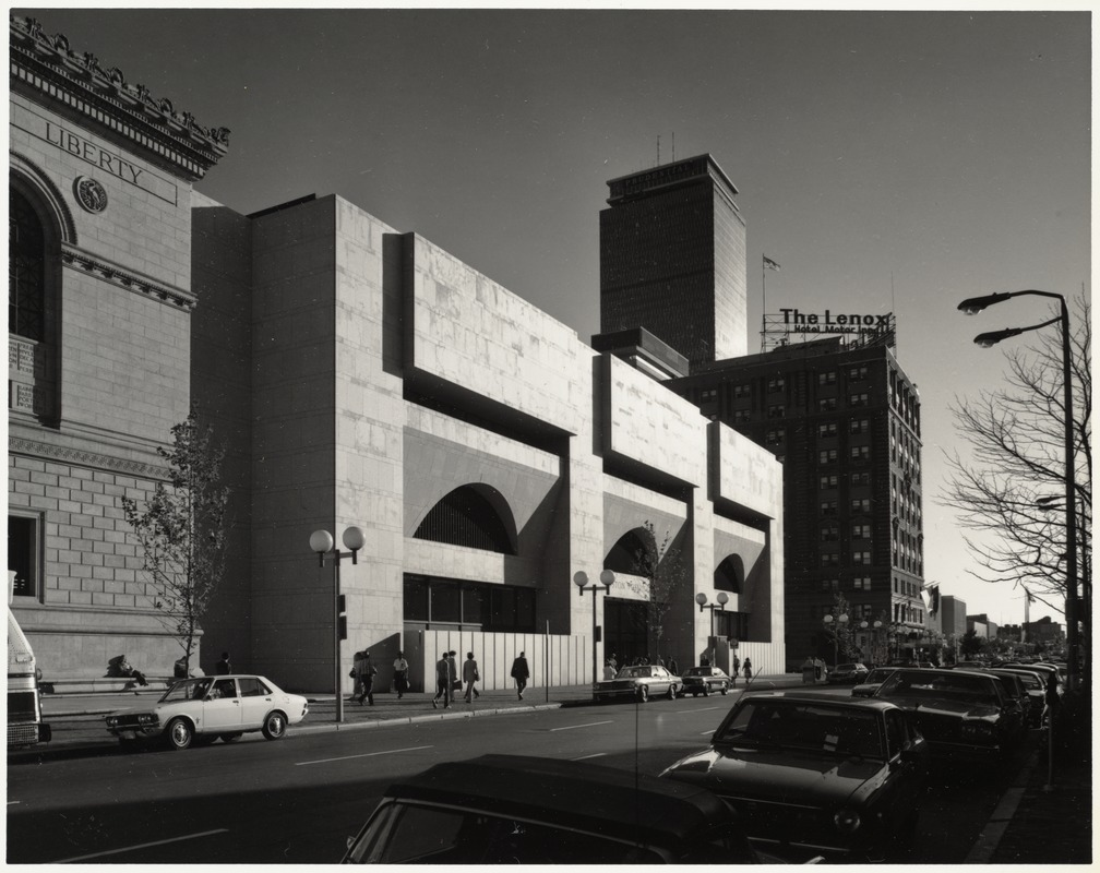 The addition to the Boston Public Library Boston, Massachusetts 1972 - Johnson/Burgee Architects, and Architects Design Group