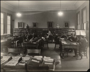 Fellows Athenaeum Branch of the Boston Public Library. Adults' reading room