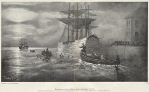 Destruction of tea in Boston Harbor, December 16, 1773