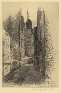 Old Bendalls Lane with tower of Faneuil Hall