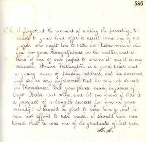 Letter from Michael Anagnos to Annie Sullivan, October 17, 1887 (p. 2 of 2)