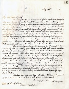 Letter from Michael Anagnos to Capt. Keller, May 13, 1888