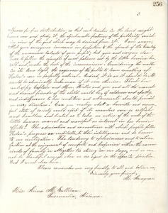 Letter from Michael Anagnos to Annie Sullivan, March 5, 1889 (p. 3 of 3)