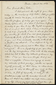 Letter from Samuel May, Boston, to Mary Anne Estlin, April 26, 1863