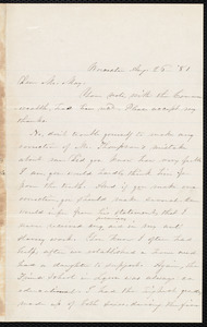 Letter from Abby Kelley Foster, Worcester, [Mass.], to Samuel May, Aug. 26, '81