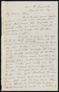 Letter from Oliver Johnson, [New York], to Samuel May, April 16, 1887