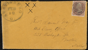 Letter from Charles Stockman Spooner Griffing, Jefferson, Ashtabula Co, Ohio, to Samuel May, Feb. 10th, 1863