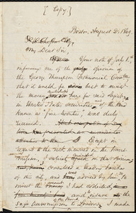 Copy of a letter from Samuel May, Boston, to Frederick William Chesson, [August 2, 1869]