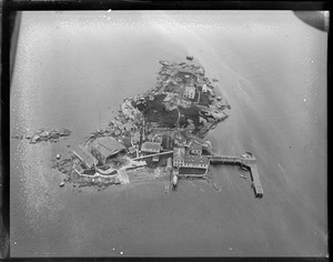 Aerial photo of the Coast Guard station in Gloucester