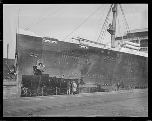 USS Leviathan, South Boston dry dock